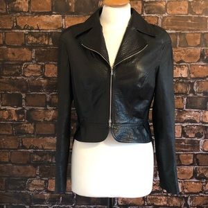 Robert Rodriguez Hi-Lo Leather Jacket